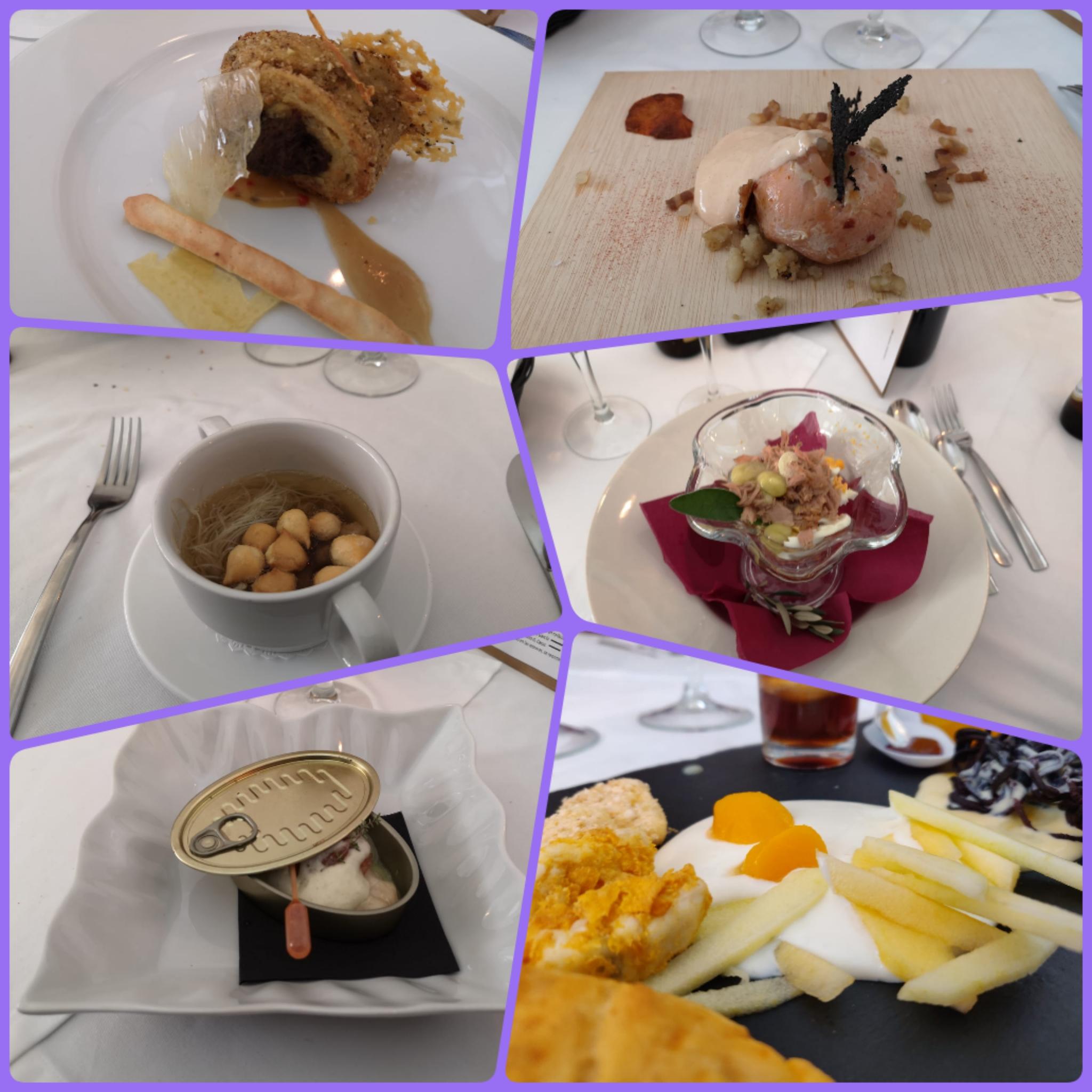 Fotos de los platos que se sirvieron ayer