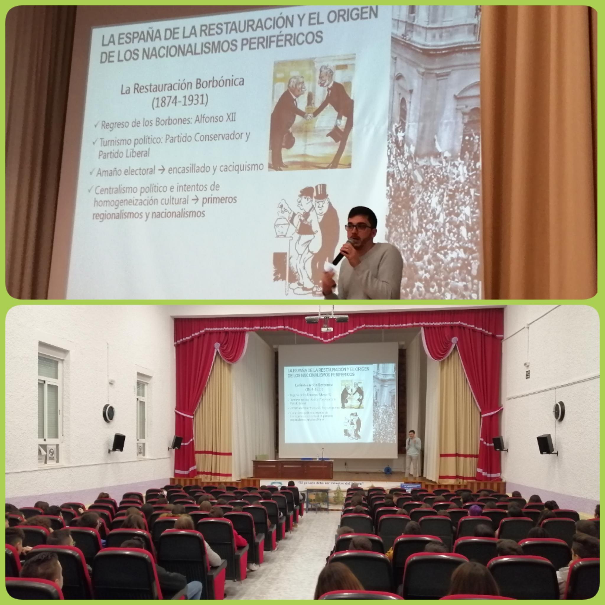 Fotografía de la conferencia sobre el andalucismo