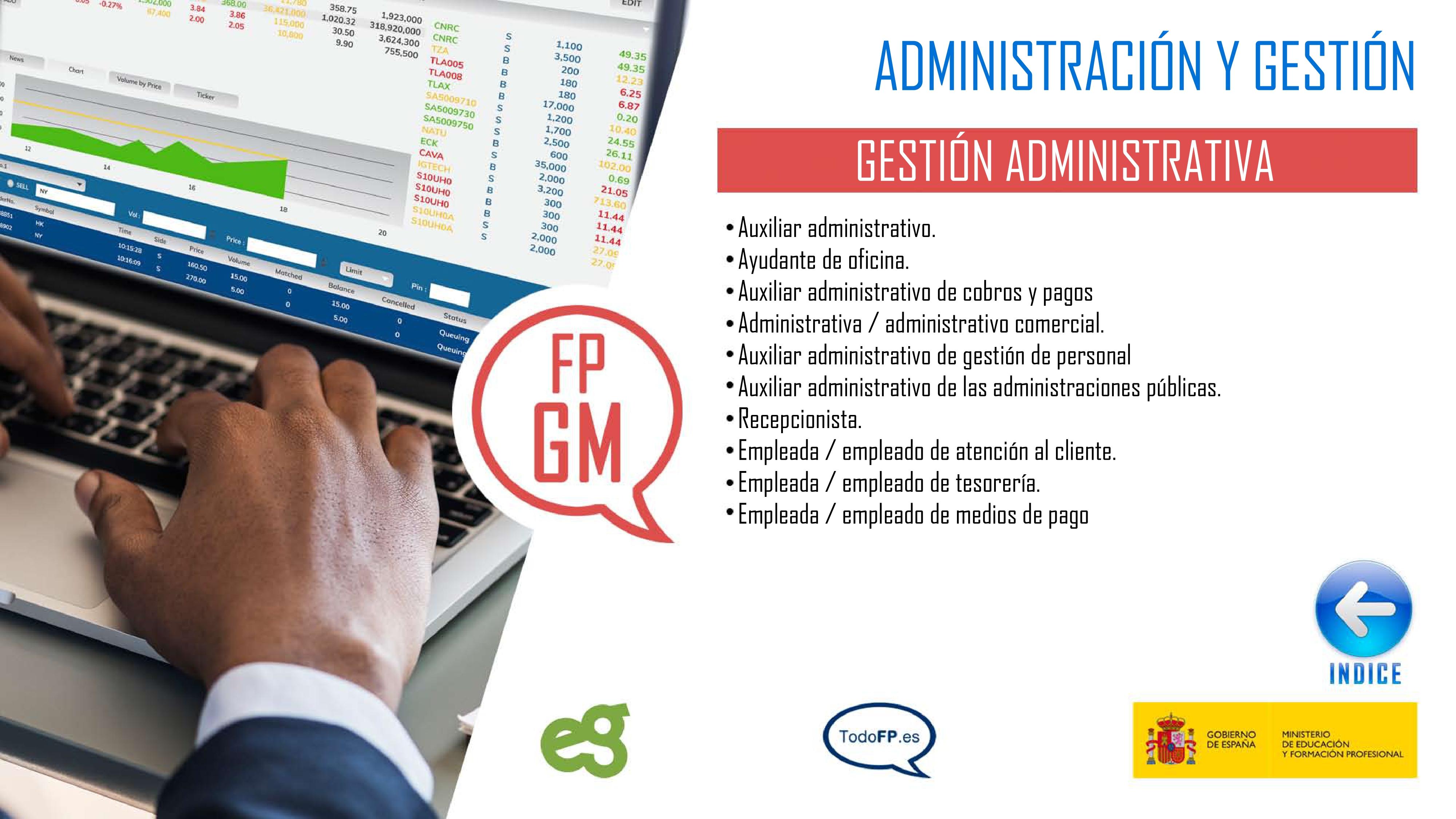 perfiles profesionales del ciclo formativo Gestión Administrativa