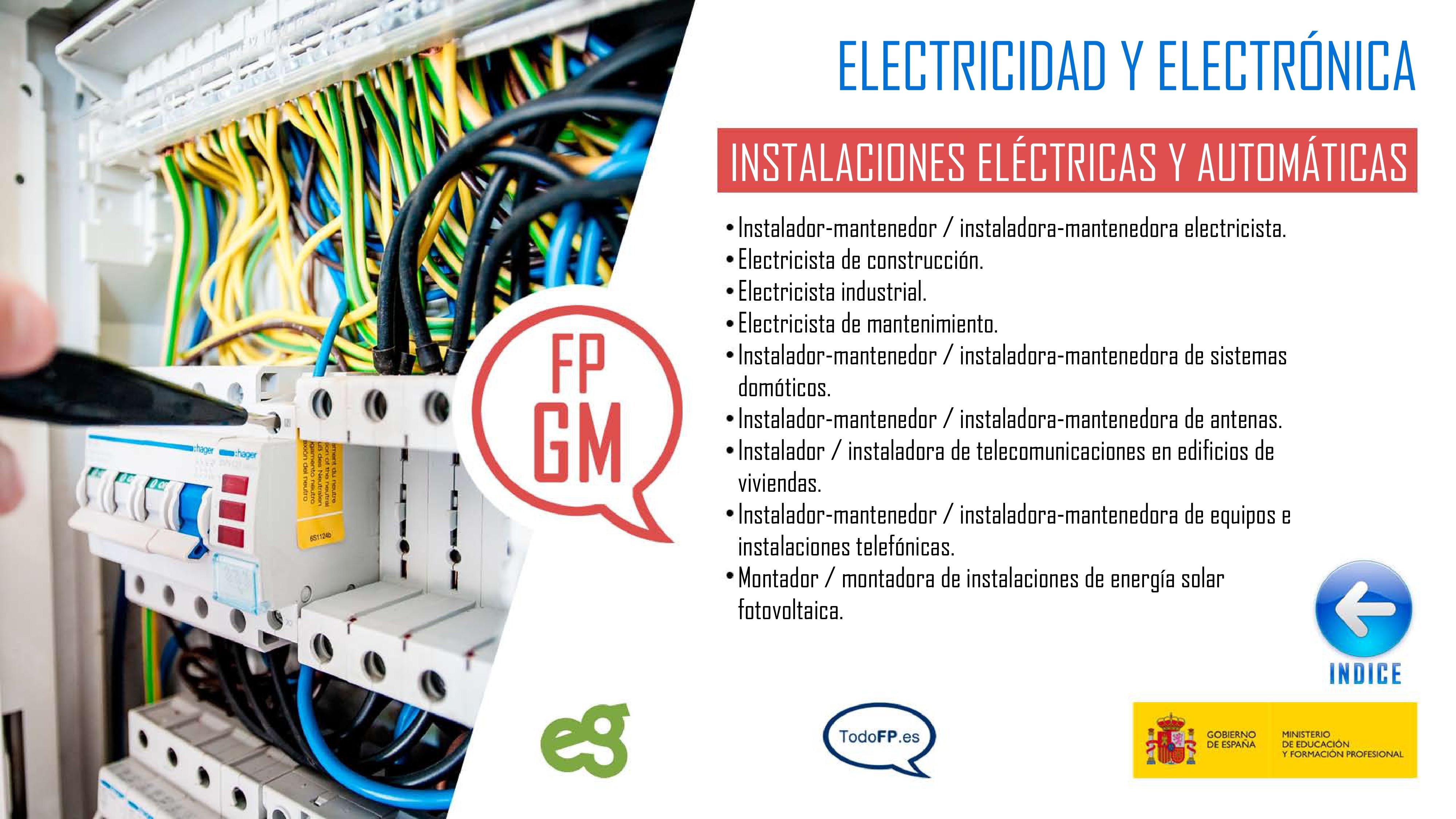 perfiles profesionales del ciclo formativo de Instalaciones Eléctricas y Automáticas